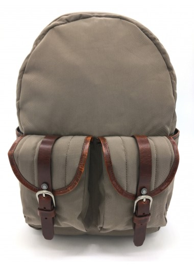 COMPUTER BACKPACK CHIC OUTDOOR in water-resistant canvas and leather- TOUAREG