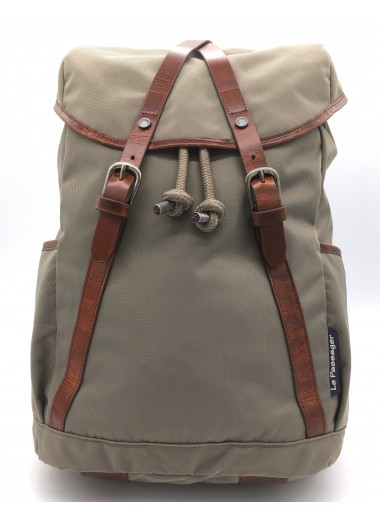 Original computer Backpack with water-resistant canvas and leather - GENTLEMAN FARMER