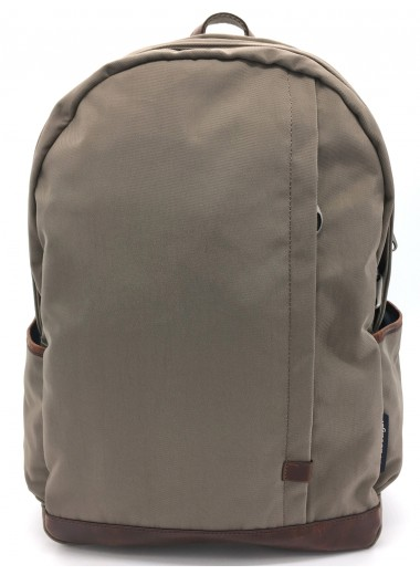 Computer backpack in water-resistant canvas and leather DOTCOM